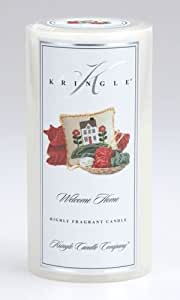 Kringle Candle 3x6 Pillar: Welcome Home Scented Candle