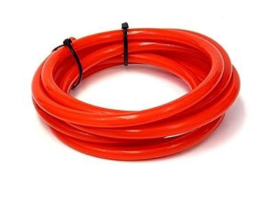 """HPS HTSVH127-RED Red 1' Length High Temperature Silicone Vacuum Tubing Hose (25 psi Maxium Pressure, 1/2"""" ID)"""