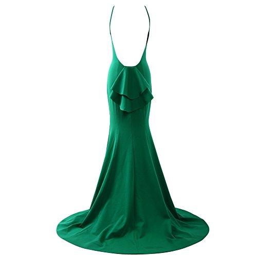 Schienale Green Abiti Abiti Sirena Sexy Ballo Lime Sera Lunghi Bess Donne Nuziali Da Da Senza 1XXq6rKHw