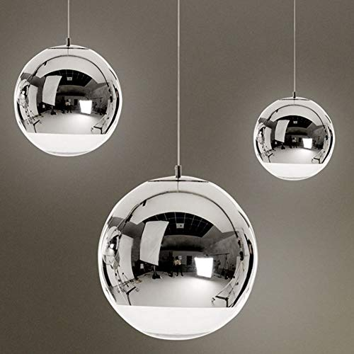 Silver Ball Pendant Light in US - 8