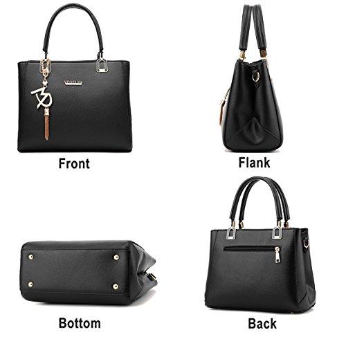 Tisdaini purse leather handbag Women PU wallet fashion simple bag Black handbags shoulder Messenger fcrf6Wqa