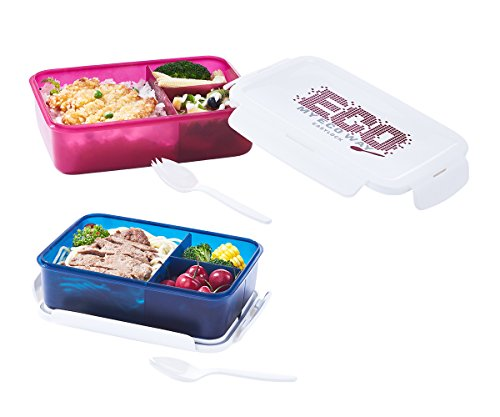Bento Lunch Box for Kids Adults, 3 Compartments