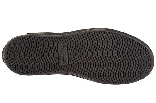 Hogan Rebel Scarpe Sneakers Alte Uomo In Pelle Nuove R206 Grigio
