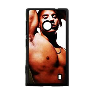 Hot Movie Fast & Furious Actor Vin Diesel Theme Case Cover for Nokia Lumia 520- Personalized Hard Cell Phone Back Protective Case Shell-Perfect as gift