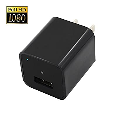 XJW 8GB 1080P HD USB Wall Charger Hidden Spy Camera / Nanny Spy Camera Adapter With in