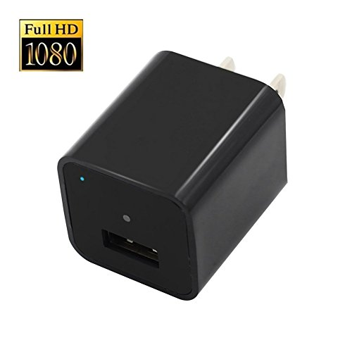 XJW 8GB 1080P HD USB Wall Charger Hidden Spy Camera / Nanny Spy Camera Adapter With in by XJW