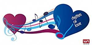 Notas Musicales - Blue Rhythm of Love Pegatina para Pared (60 x 25cm)