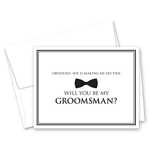 Bow Tie Groomsman Proposal Cards - Set of -