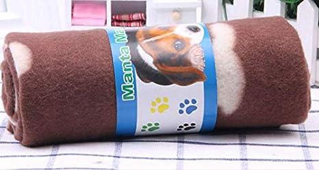 Pet Sofa Huella Suave y cálida de Dos Caras Manta para Mascotas de Perro (marrón) Dog Restting Pad: Amazon.es: Productos para mascotas