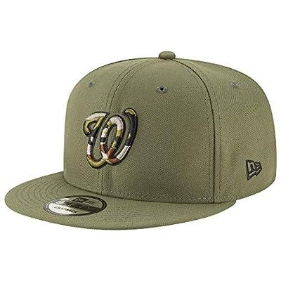 New Era MLB Washington Nationals 9FIFTY Camo Trim Snapback Hat, Adjustable Cap
