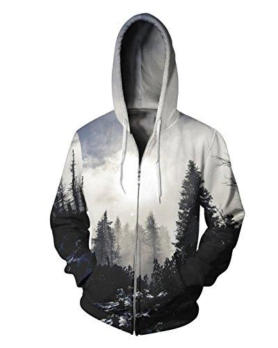 Zip Hoody Hoodie Sweatshirt - 1