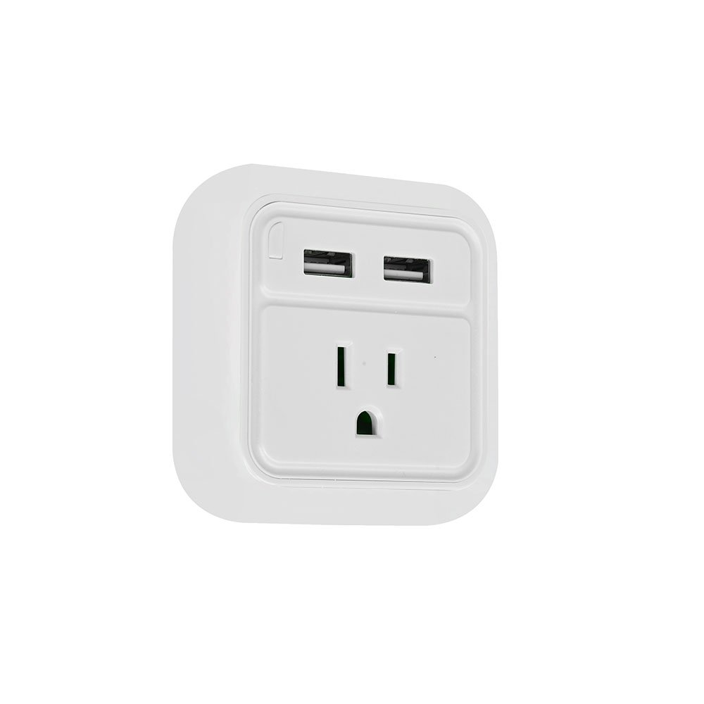 Dual USB Wall Charger with Nightlight 12 PACK - for iPhone 6/7/7/8 plus/iPhone X/galaxy s7 s8/note 8 Android iWireless USA iPower White by iWireless USA (Image #3)