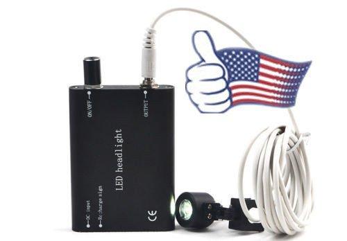 Careshine From USA!! LED Head Light for dental lab Surgical Binocular Loupes (Black)