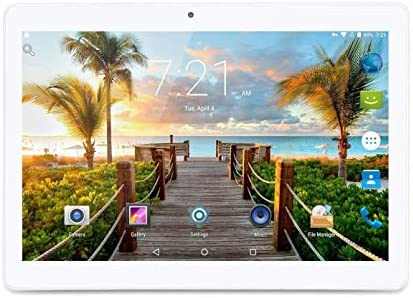 "LLLCCORP 10"" Tablet Android 8.1 Quad Core 1.3Ghz Dual SIM Card Slots 4GB RAM 64GB ROM Built in WiFi Bluetooth GPS (Silver)"