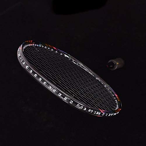 XZBBH 8Uプロフェッショナル100%カーボンバドミントンラケット24-30lbs G5超軽量攻撃バドミントンラケットラケットトレーニングスポーツとバッグ (色 : Black with Box)