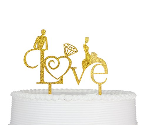 Wedding-CakeTopper-Love-Engagement-Premium-Quality-Acrylic-Wedding-Party-Decoration-Supplies-with-Cardboard-Packaging-Gold