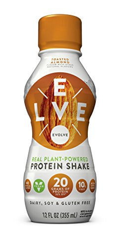 Evolve Protein Shake, Toasted Almond, 20g Protein, 12 FL OZ, 12 count (Almond Toasted)