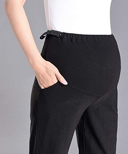 c706a256a4dfc Foucome Maternity Work Pants Womens Flare Leg Dress Pants Bootcut Stretch High  Waist Pregnancy Trousers with