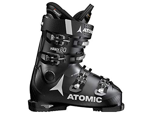 Atomic HAWX Magna 80 Ski Boots Black/Anthracite Mens Sz 13/13.5 (31/31.5)