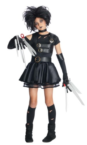 [Rubie's Costume Co Edward Scissorhands Teen Miss Scissorhands Costume, Black, Medium] (Edward Scissorhands Womens Halloween Costume)