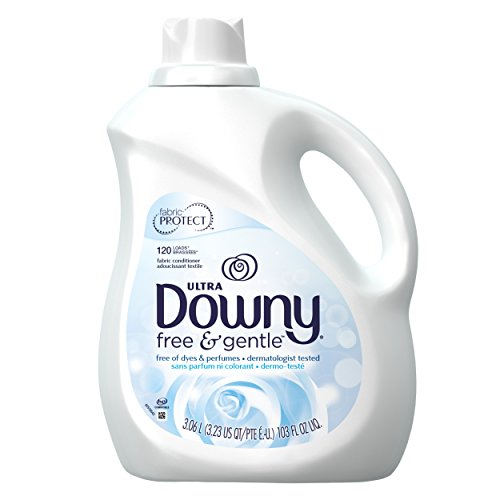 (Downy Ultra Free & Gentle Liquid Fabric Conditioner (Fabric Softener), 120 Loads, 103 fl oz (Packaging May Vary) )