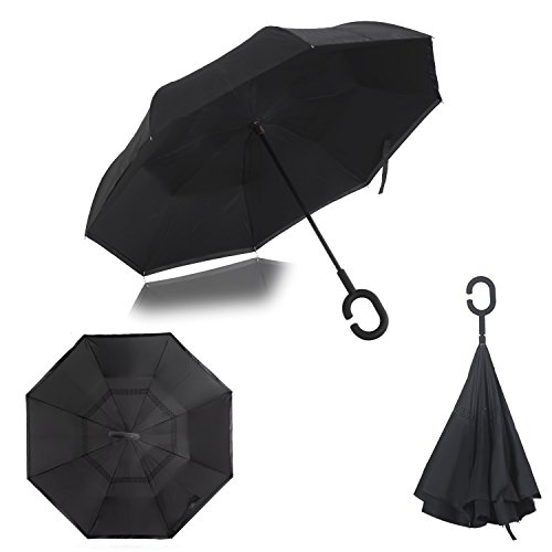 Strawberry Inverted Umbrella Carrying Black product image