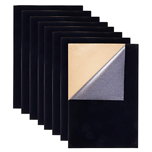 (BENECREAT 20PCS Velvet (Black) Fabric Sticky Back Adhesive Back Sheets, A4 Sheet (8.3