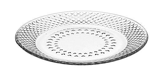 Libbey Montclair Glass Dinner Plates (Set of 12), Clear