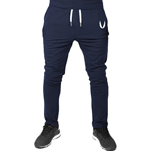 Flannel Duck Lined Washed Dungaree (Men's Sports Pants,Fit Solid Sweatpant [Casual Stretch Quick-Drying Jogger ] [Workout Running Gym Pants Trousers] (Navy, M))