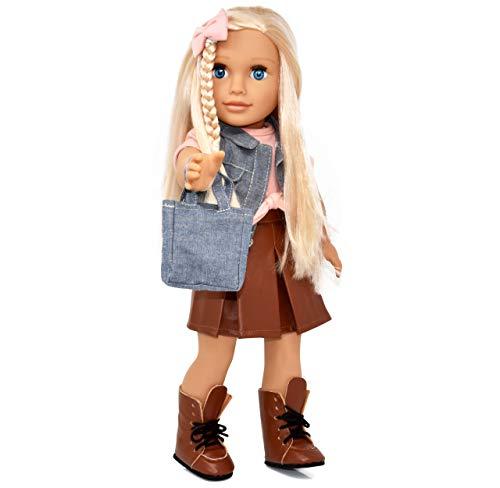 18 인치 소녀 인형 패션 인형 스타일링 옷 신발 및 액세서리에 대 한 괜 찮 아 요 머리와 소녀와 아이 들을 위한 공주 인형