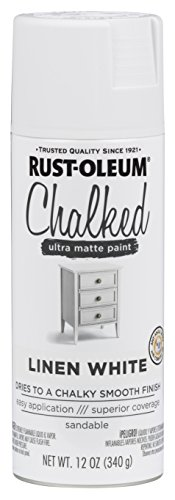 Rust-Oleum 302591 Chalked Spray Paint, 12 oz, Linen White/White (White Rustoleum Spray Paint)