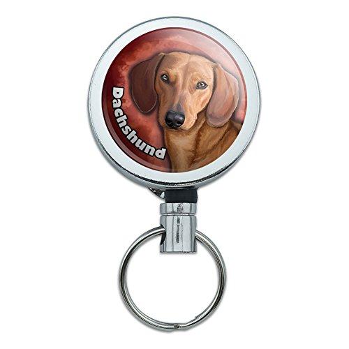 Metal Retractable Badge Holder Puppy