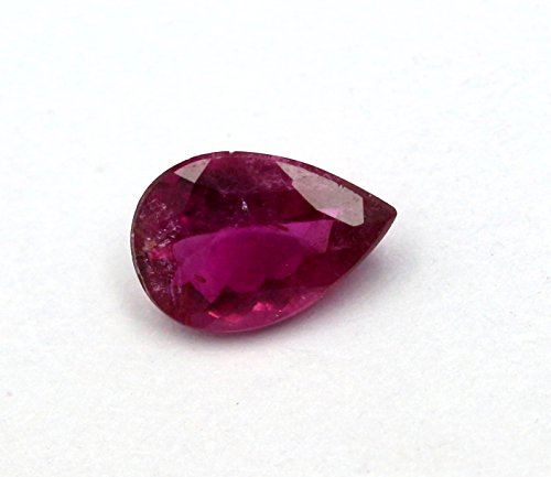 Faceted Pear Cut (Natural Pink Tourmaline 1.59ct Faceted Cut Pear 6.5X9.5mm Top Quality Pink Color Loose Gemstone - Natural Pink Tourmaline Pear Cut)