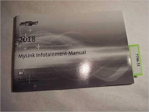 2018 Chevrolet Mylink Infotainment Manual Only Chevrolet