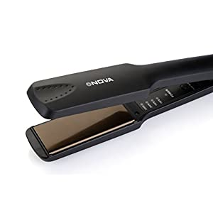 Nova NHS 860 Temperature Control Professional Hair Straightener (Black)