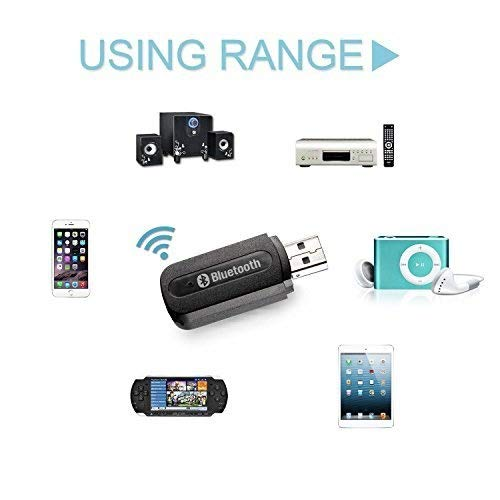 XINGDONGCHI USB Bluetooth 3.5mm Stereo Audio Music Receiver Adapter with 3.5mm Audio Cable for Home Stereo, Portable Speakers, Headphones, Car Music Sound Systems Wuluming BLUTOOTH MUSIC RECEIVER