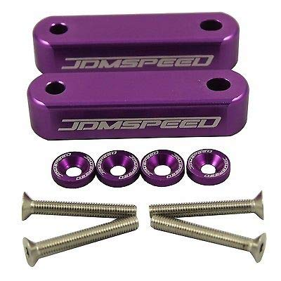 FidgetGear Purple Billet Hood RISERS SPACERS for Honda Civic 1988-2000 EF EG EK (Honda Hood Risers)