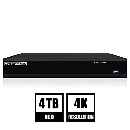 Amazon.com : Night Owl Security 8-Channel 4K UHD Wired Smart Security NVR with 2 TB Local Storage, Black (NVR-IH802-B) : Camera & Photo