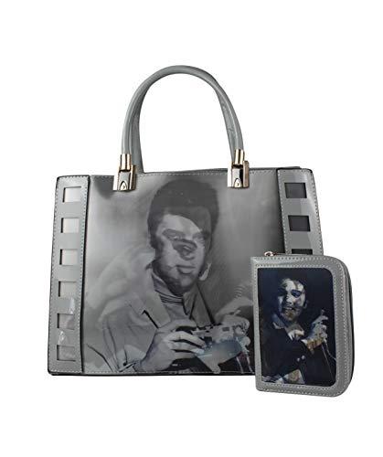 Gris mujer Fashion Home hombro Bolso para amp; de Charol al qxxOzw8Z