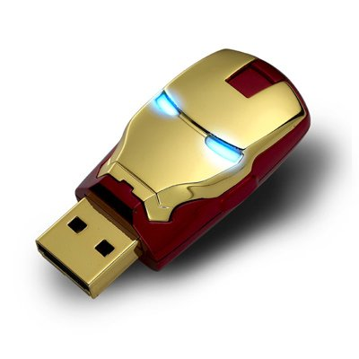 The AVENGERS Ironman Mask USB Flash Drive 8GB (in original Avengers Package by Infothink)