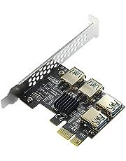 MZHOU PCI-E 1 do 4 PCI-Express 16X gniazda karta pionowa - wyższa stabilność USB 3.0 adapter karta mnożnika