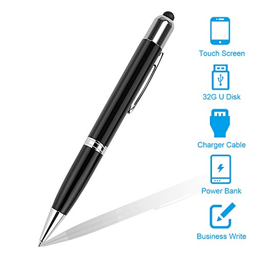 eBerry Digital Multi Function Pens For Ballpoint Pens, Touch Screen Pen, Power bank, 32GB USB Flash Drives and USB Charger ()
