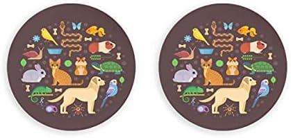 Vector colorido colección mascotas incluyendo perro abridor de botellas de cerveza 2 piezas imanes decorativos nevera abridor de botellas de metal