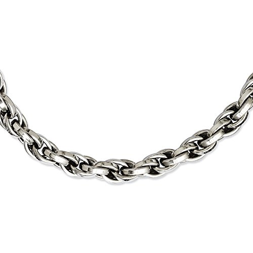 Oval Link 24' Necklace (Stainless Steel Polished Oval Link Necklace 24'' inches length)