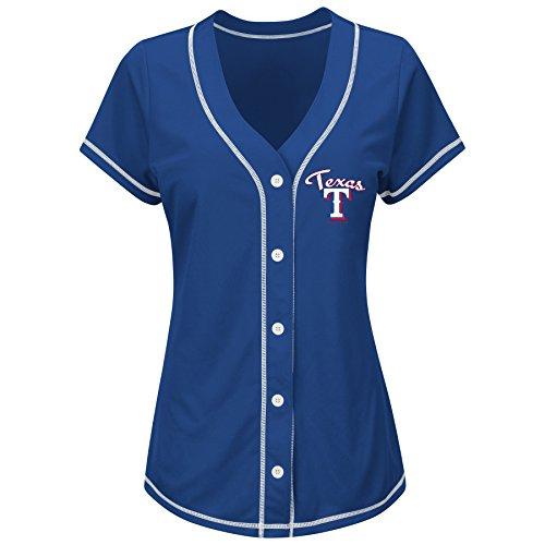VF LSG MLB Texas Rangers Yu Darvish Women's 11 M Fashion Tops, Royal/White, Medium (Texas Rangers Mlb Light)