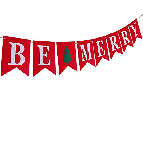 Be Merry Felt Banner Garland Christmas Indoor Outdoor