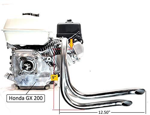 Mini Bike Dual custom Exhaust Header Pipe for Predator 212cc, Honda GX160 &  GX200