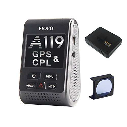 VIOFO A119 V2 Dash Camera with GPS Logger & CPL 2018 Edition (OCD Tronic Certified) (119s)