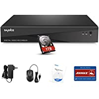 SANNCE 8CH 720P DVR Recorder with 1TB Hard Drive Pre-installed Security System, Smartphone Easy Remote Access & HDMI video Output