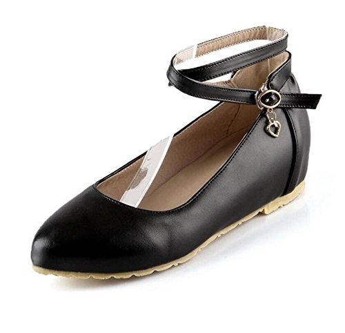 LDMB Chaussures peu profondes filles de la bouche de filles pointue pointe faible pour aider les chaussures , black , 38